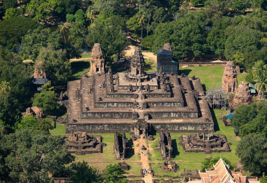 Microlight flight over Angkor temples