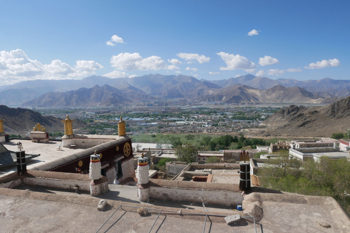 Lhasa, at the northern end of the 'Friendship Highway'