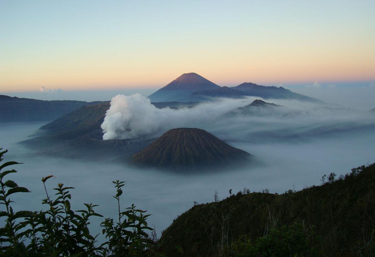 Primordial volcano sunrise in Bromo National Park