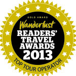 wanderlust top tour operator 2013 gold award winner