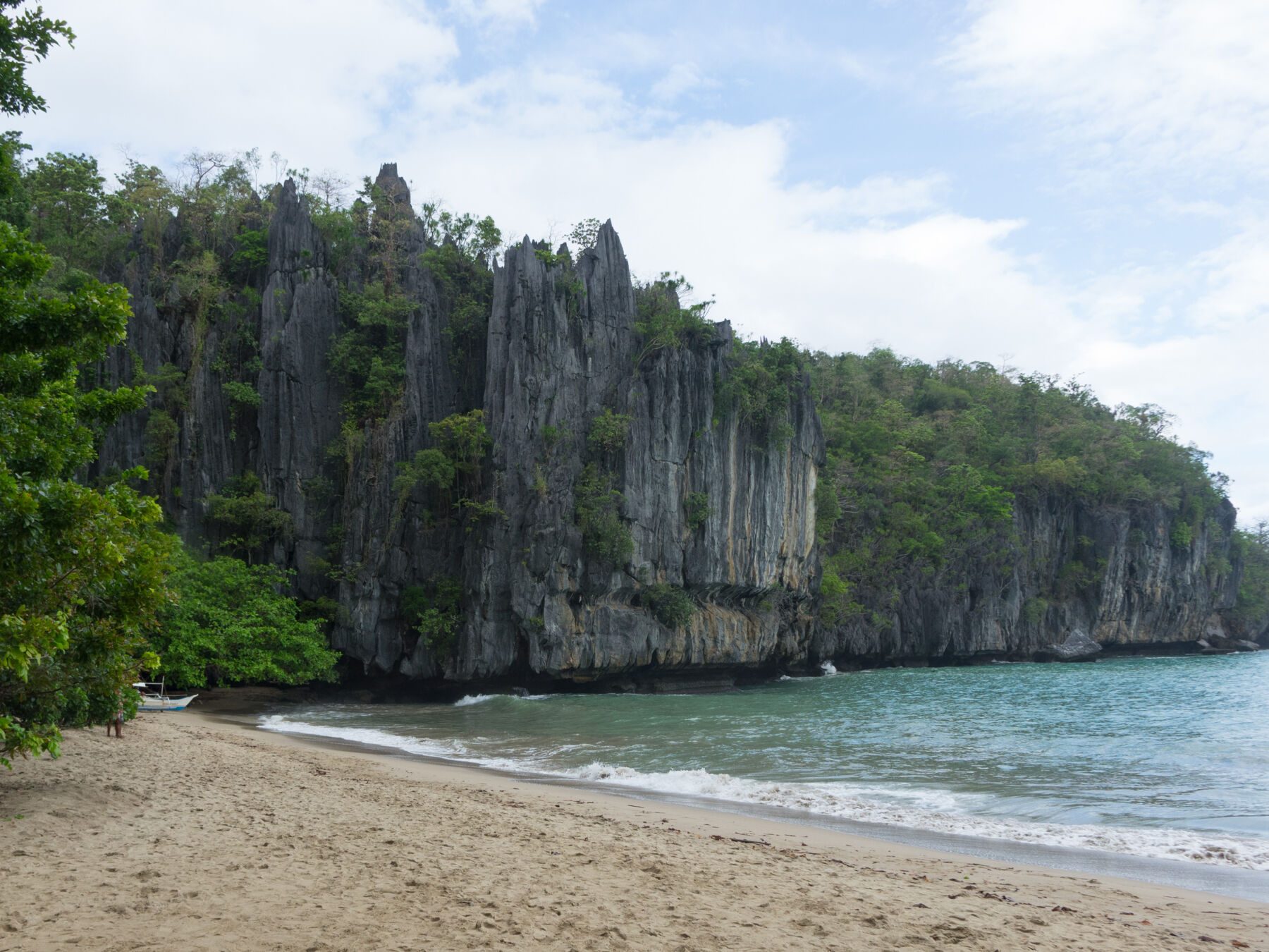 Beach near the underground river, Palawan