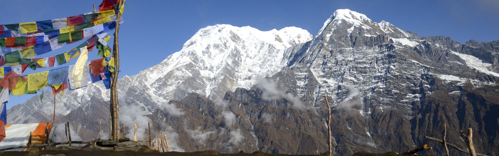 Nepal mountains and clouds