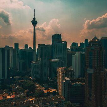 scenic flight over Kuala Lumpur