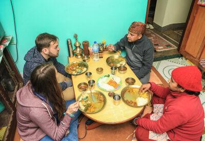 Overnight in a homestay in Nepal