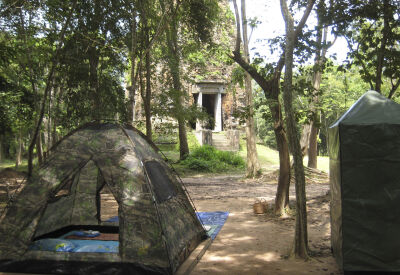 Camping by Cambodia's ancient temples