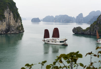 Private junks on Vietnam's iconic Halong Bay