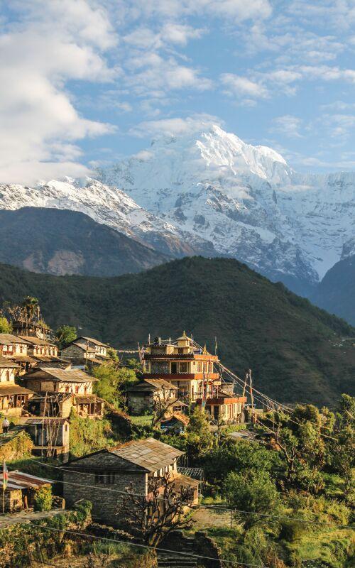 Nepal mountain scene