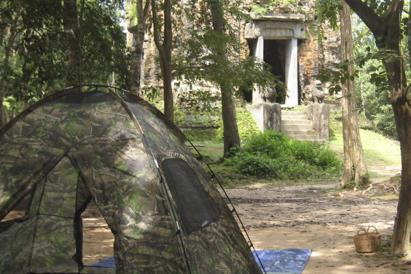 Camp among temples, Siem Reap