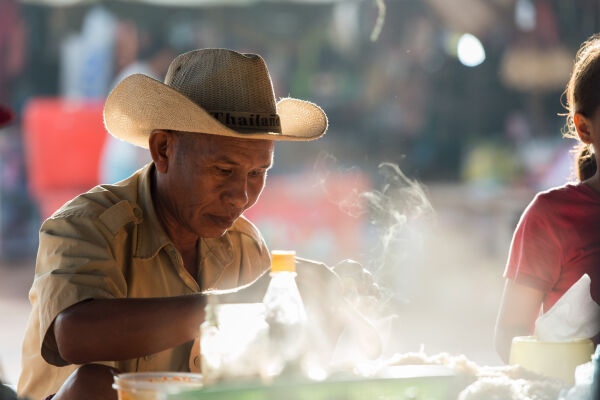 Breakfast in Cambodia