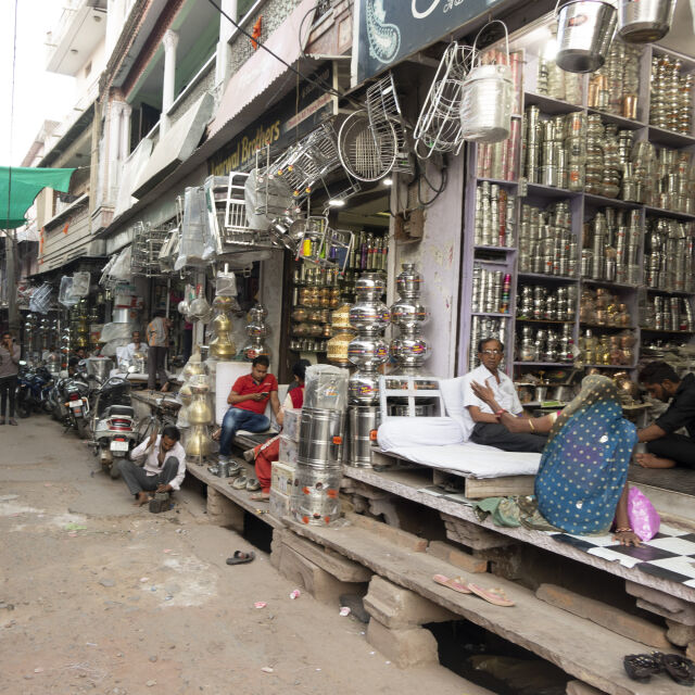 Market street in India