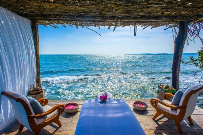 Open air sala spa