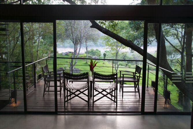 Raised terrace over the garden