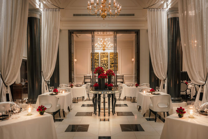 The elegant Strand Restaurant