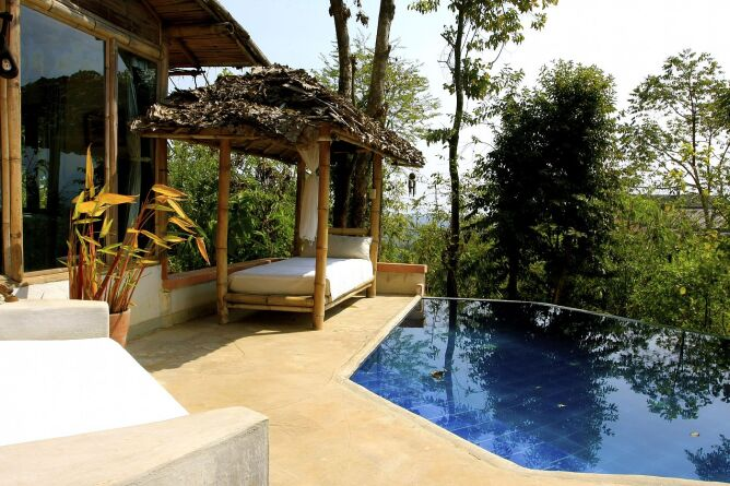 Pool Cottage terrace and plunge pool