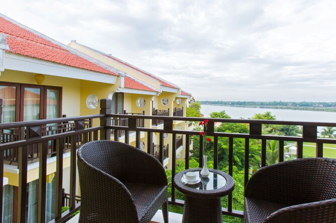 Balcony with river view