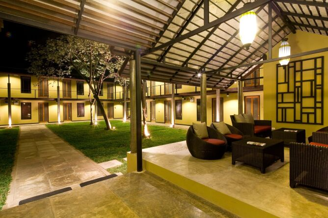 Lobby and courtyard