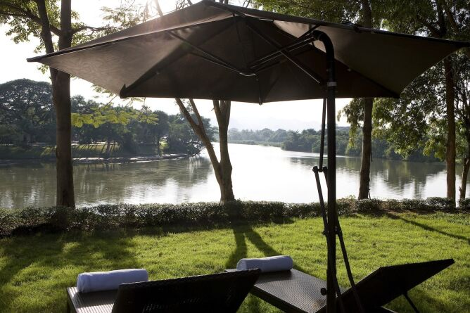 Sunloungers by the River Kwai