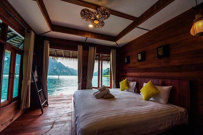 Floating bungalow interior