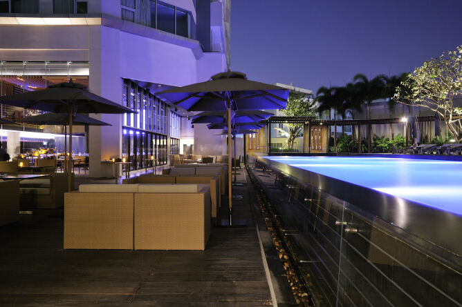Saltwater pool and deck