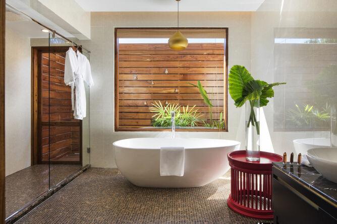 Bright, spacious bathrooms