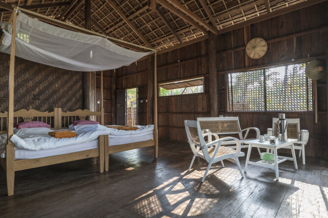 Stay in traditional Rakhine house rebuilt with recycled wood