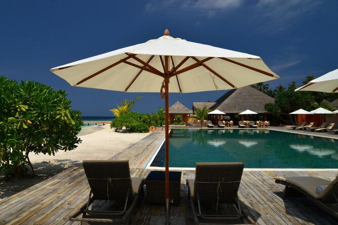 Beachside pool