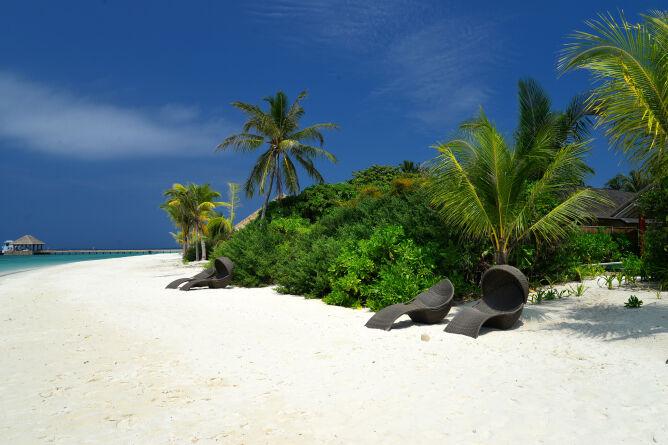 White sandy private beach