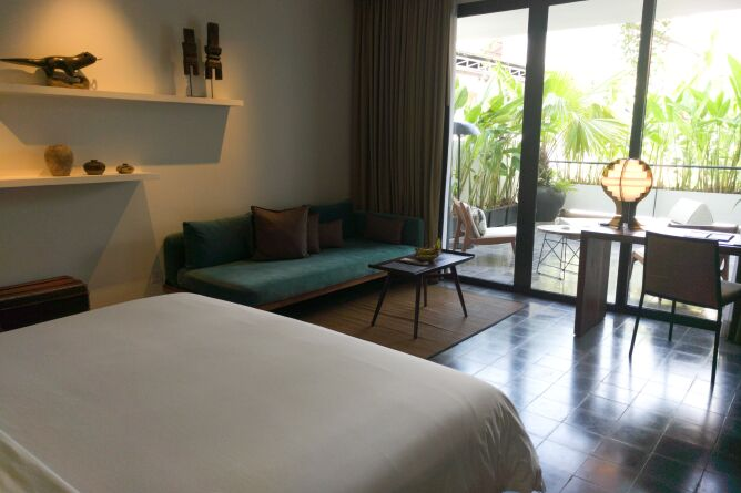 Each room features a private terrace