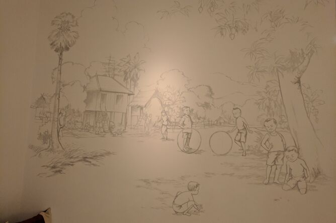 Beautiful wall illustrations