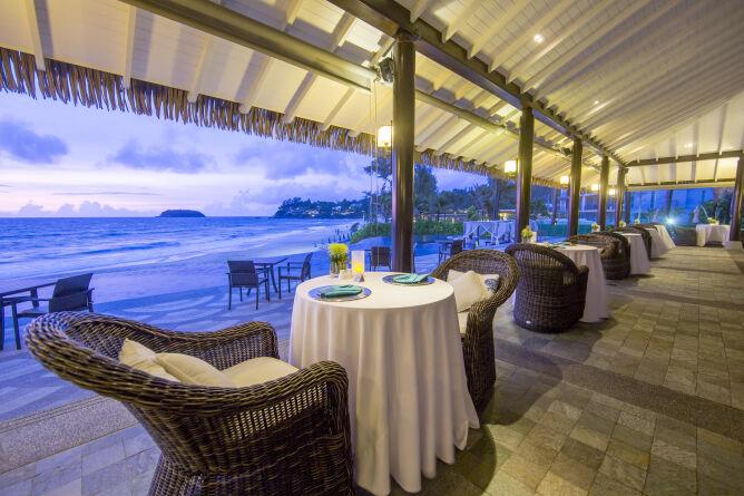 Sweeping beach views at dinner