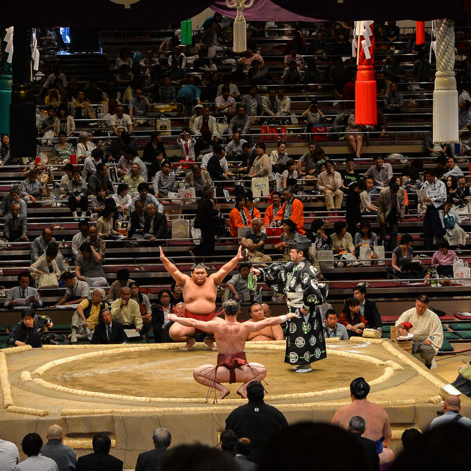 Experience a few hours in the life of a sumo wrestler