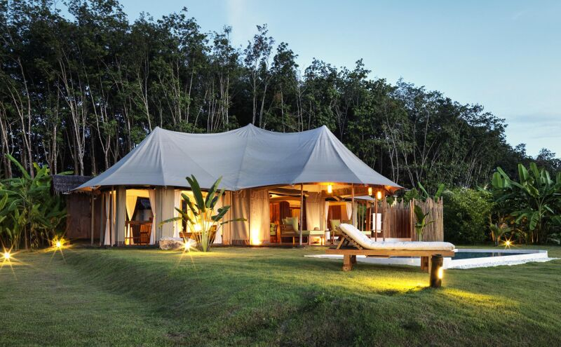 Luxury adult-only tented camp
