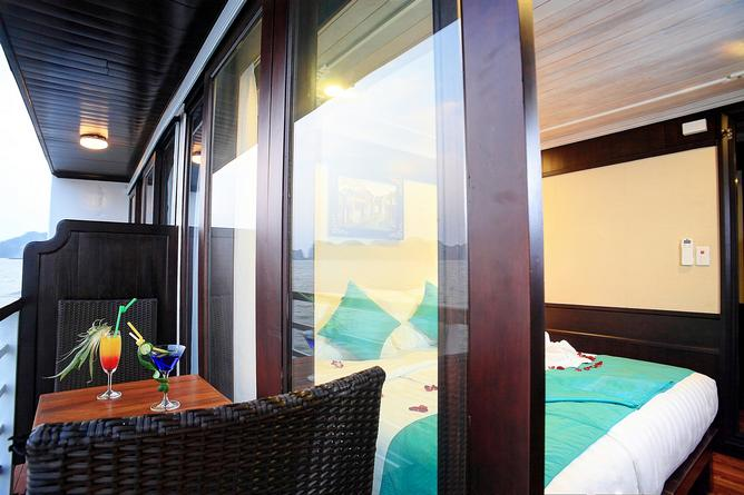 Suites have a personal balcony