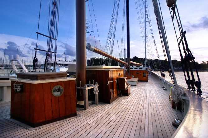 Raja Laut's deck view
