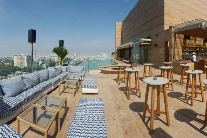 Panoramic views from the rooftop pool & bar