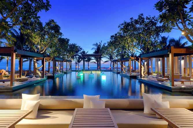 Naman's beachfront pool