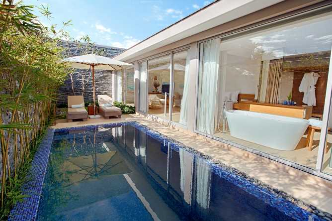 The private pool of the Pool Villa