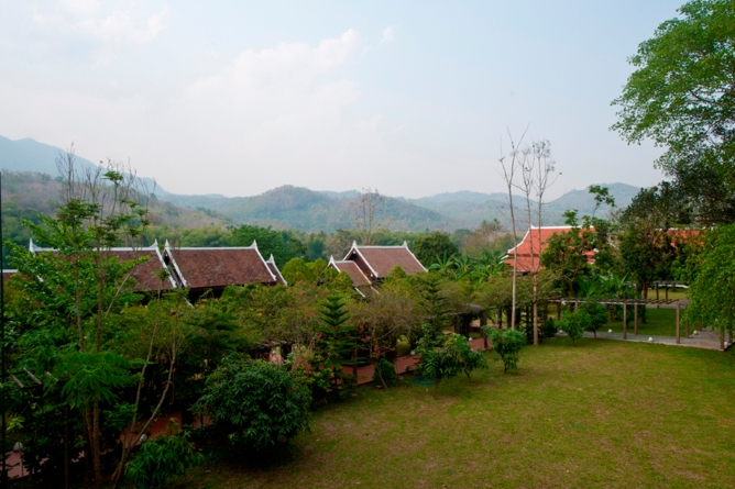 Views from the main hotel wing