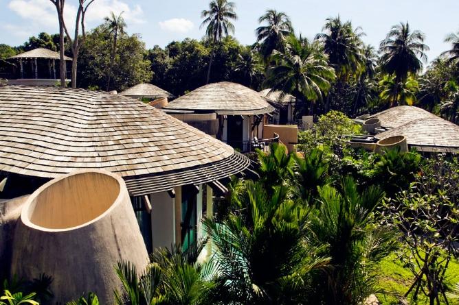Villas dotted through the gardens