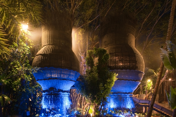 The 'nests' at Coqoon Spa