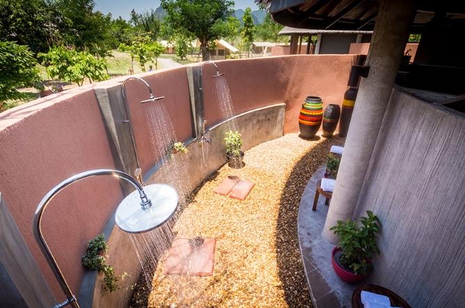 Shared bathroom for Eco Safari tents