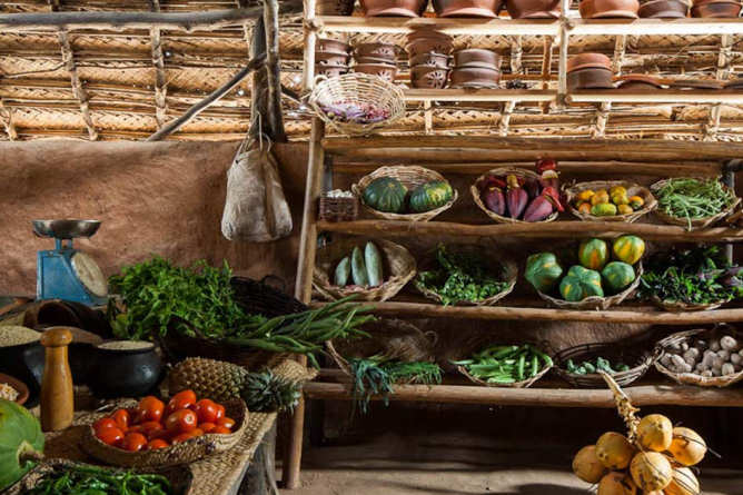 Local produce used in the kitchen