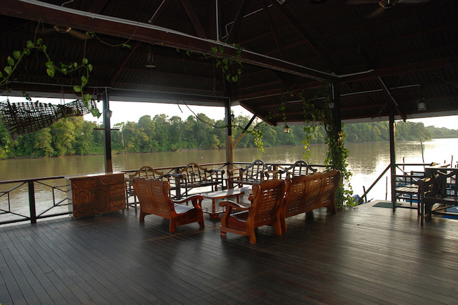 Open air lounge and river views