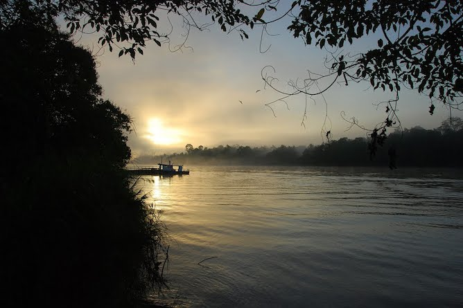 Sunset views of the river