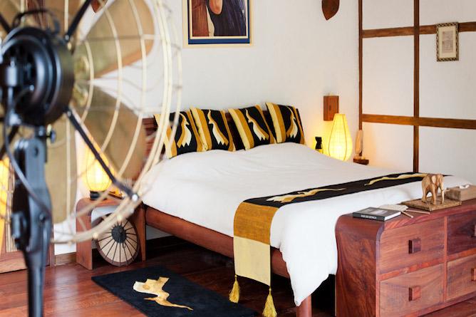 Double bedded wooden villa
