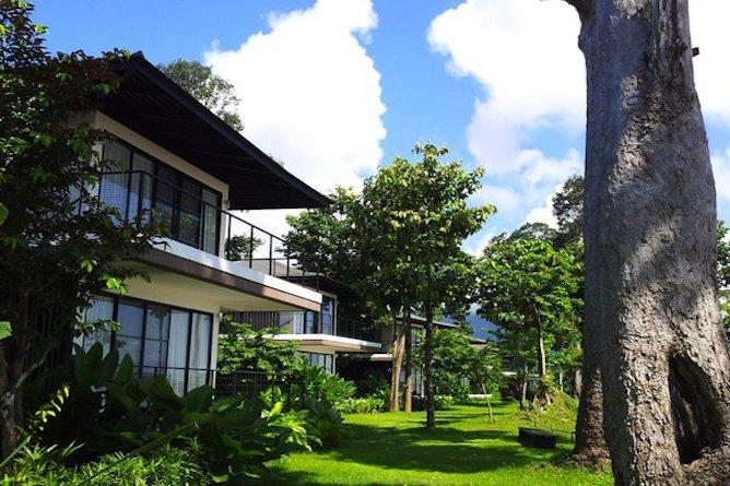 Villas set along the Mekong River