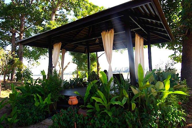 The Laotian massage pavilion at River Resort