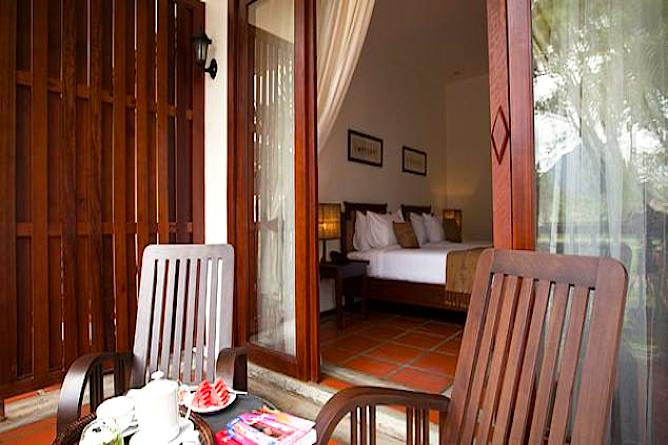The deluxe room private balcony...