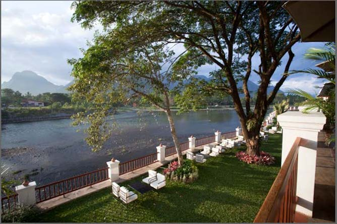 ...with outstanding views down the Nam Song river