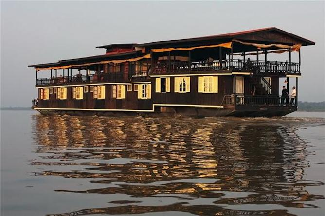 Step onboard this luxuriously converted rice barge